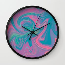 Acid marble dream Wall Clock