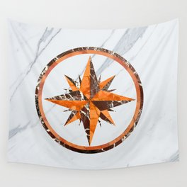 Wind rose ~ Inlaid marble Wall Tapestry