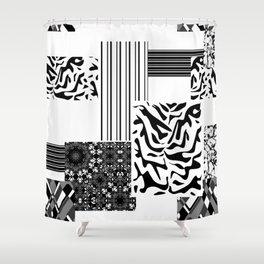 Geometric patchwork 1 Shower Curtain