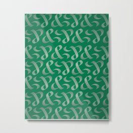 & | Logo Composition Metal Print