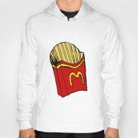fries Hoodies featuring Large Fries by Daniel Emmerig