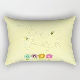 "disney's aladdin ""bee yourself"" child's nursery print Rectangular Pillow"