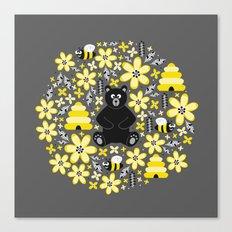 Bear and Bees Canvas Print