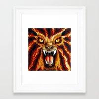 werewolf Framed Art Prints featuring Werewolf by BluedarkArt