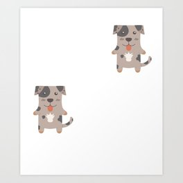 You Can't Scare Me I Have 2 Catahoula Leopard Dogs Art Print