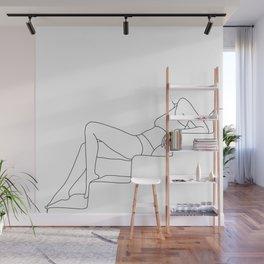 Female figure line drawing illustration - Sadie Wall Mural