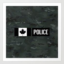 Canadian Police: Black Camouflage Art Print