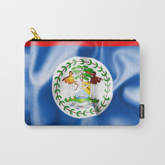 Belize Flag Carry-All Pouch