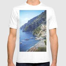 Amalfi coast, Italy Mens Fitted Tee White MEDIUM