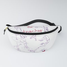 Hot for Teacher Pole Dance Life Drawing Beautiful Strong Woman Minimalist Style Fanny Pack