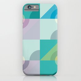 Geometric pattern in turquise iPhone Case