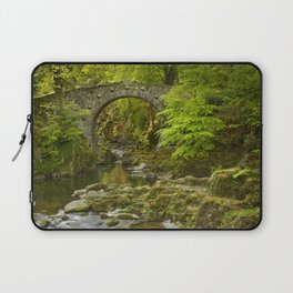 Stone bridge over a river in Northern Ireland Laptop Sleeve