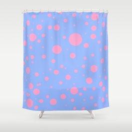 Blue pink circles by ilya konyukhov (c) Shower Curtain