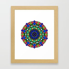 Colourful Hand Drawn Mandala Framed Art Print