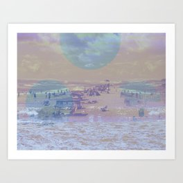 washed up Art Print