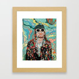 Maybe Just Happy Framed Art Print