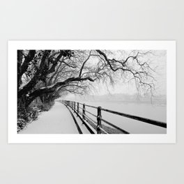 Snow in Fulham Art Print