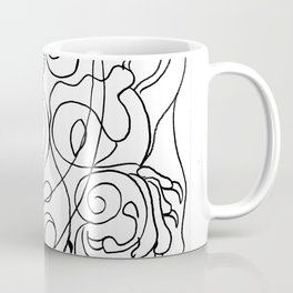 Dragon with rose Coffee Mug