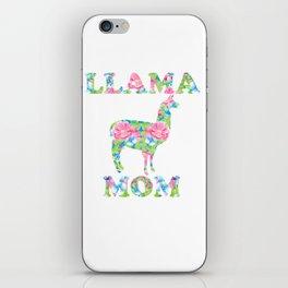 Llama Mom Floral Pattern iPhone Skin