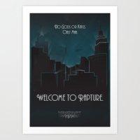 bioshock Art Prints featuring Bioshock by Will Crase