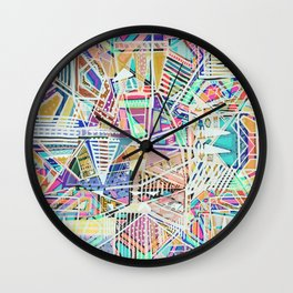 Geometric Abstract Lines Labirinth  Wall Clock