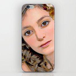 butterflygirl iPhone Skin