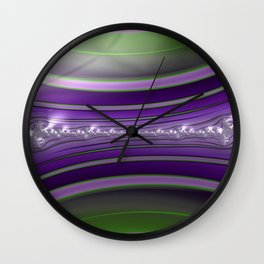 Horned Revere Fractal - Abstract Art Wall Clock