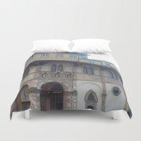 italy Duvet Covers featuring Italy by NekoYuki