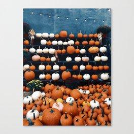 Pumpkins for Sale (Color) Canvas Print