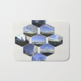 A Collage Of Winter In Frederick Maryland Bath Mat
