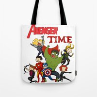avenger Tote Bags featuring Avenger Time! by ArtisticCole