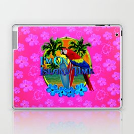 Pink Hibiscus Island Time Sunset Laptop & iPad Skin