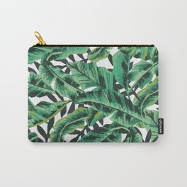 Tropical Glam Banana Leaf Print Carry-All Pouch