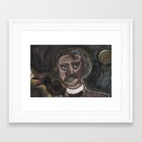 edgar allen poe Framed Art Prints featuring Edgar Allen Poe by Maurissa Vigil