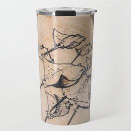 Devil Ray Wood Slice Travel Mug