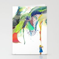 archan nair Stationery Cards featuring Azalia by Archan Nair