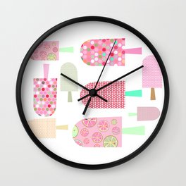 Ice Cream Lollipop Multicolor Art Print Home Decor Room Furnishing Contemporary Wall Design Graphic  Wall Clock