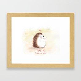 Antisocial Hedgehog Framed Art Print