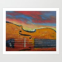 violin Art Prints featuring Violin by Michael Creese