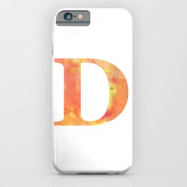 Letter D in Warm Tones iPhone Case