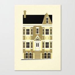 A house (olive option) Canvas Print