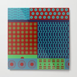 Japanese Style Colorful Patchwork Metal Print