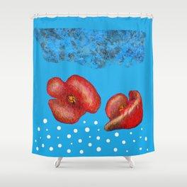 Coquelicot et brume bis Shower Curtain