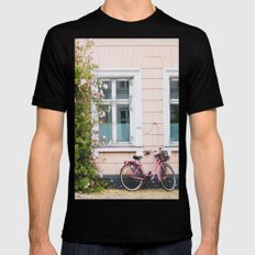 Bicycle. Mens Fitted Tee Black SMALL