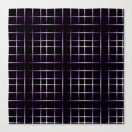 Ultraviolet Purple Black Grid Canvas Print