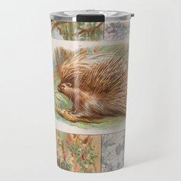 Vintage Porcupine Illustration (1890) Travel Mug