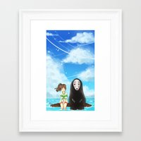 spirited away Framed Art Prints featuring Spirited Away by Stellaris