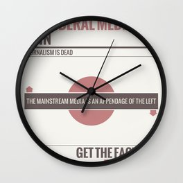 Don't Believe The Liberal Media Wall Clock