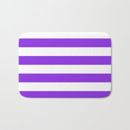 Horizontal stripes / blue violent Bath Mat