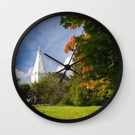 Early Autumn in City Park Wall Clock